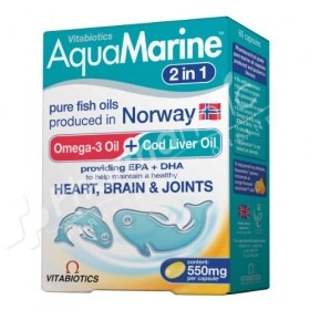 Vitabiotics Aquamarine High Purity Fish Oils