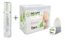 AB Slim Slimming Tea -30 Teabags- + Ab Slim Fat Burning Cream