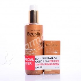 Beesline Suntan Oil Gold + FREE Tinted Sunscreen
