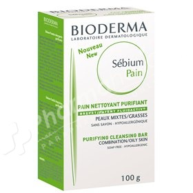Bioderma Sébium Pain Purifying Cleansing Bar for Combination to Oily Skin