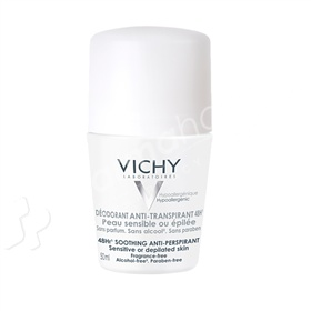 Vichy Deodorant 48 Hour Soothing Anti-Perspirant Roll On -50ml-